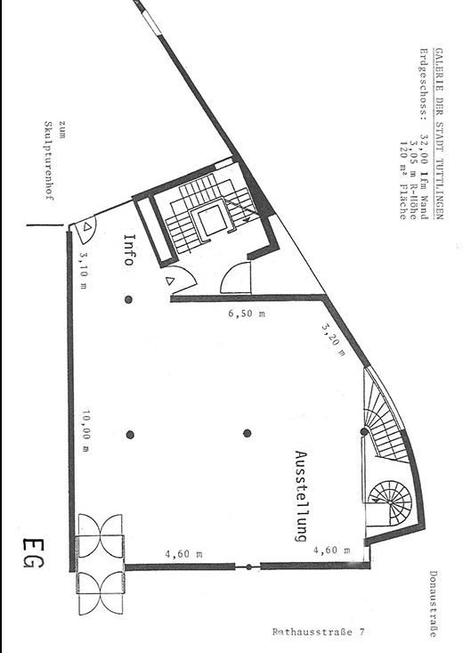 Grundriss der Städtischen Galerie